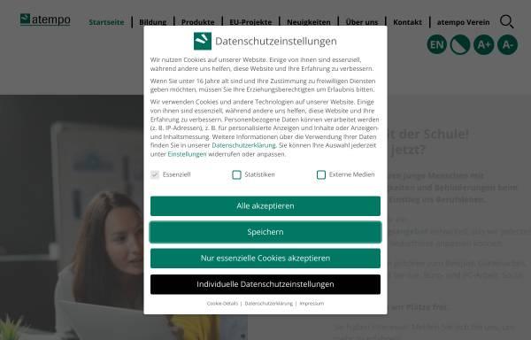Vorschau von www.atempo.at, Verein zur Gleichstellung von Menschen mit Lernschwierigkeiten und Behinderung