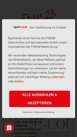 Vorschau der mobilen Webseite www.equitrends.de, Equitrends