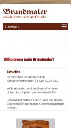 Vorschau der mobilen Webseite www.brandmaler.at, Atelier Franz Wallner