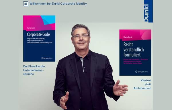 Vorschau von www.dunkl.com, Dunkl Corporate Design