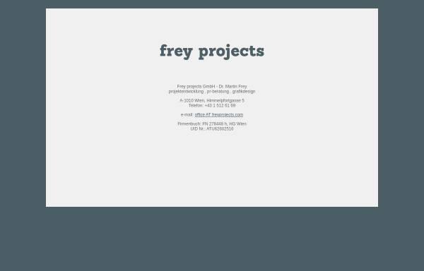 Vorschau von www.freyprojects.com, Freygrafik Wien