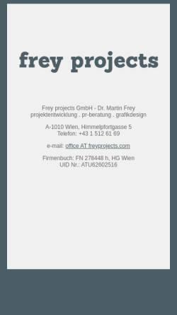 Vorschau der mobilen Webseite www.freyprojects.com, Freygrafik Wien