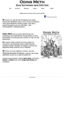 Vorschau der mobilen Webseite www.odins-met.de, Odins Meth