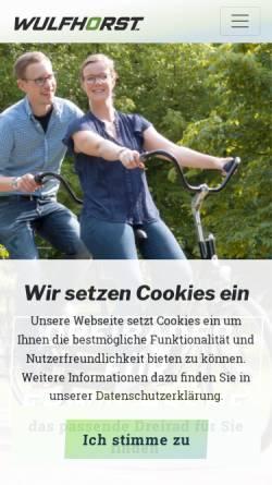 Vorschau der mobilen Webseite www.wulfhorst.de, Wulfhorst GmbH