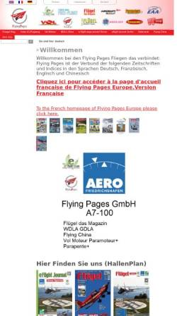 Vorschau der mobilen Webseite www.flying-pages.com, Flying Pages