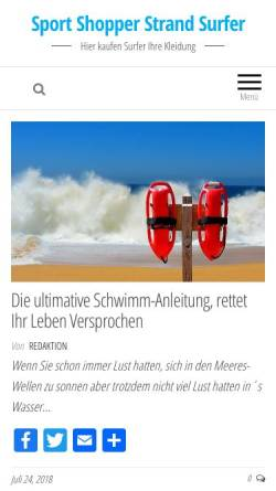 Vorschau der mobilen Webseite www.sportshopperstrandsurfer.de, Sportshopper