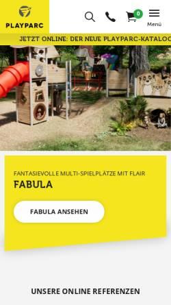 Vorschau der mobilen Webseite www.playparc.de, Playparc GmbH