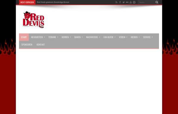 Vorschau von reddevils.org, Red Devils Wernigerode