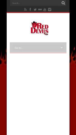 Vorschau der mobilen Webseite reddevils.org, Red Devils Wernigerode