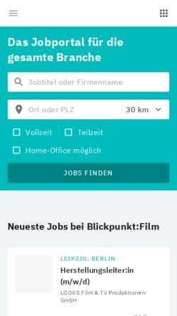Vorschau der mobilen Webseite jobs.mediabiz.de, mediabiz-jobs.de