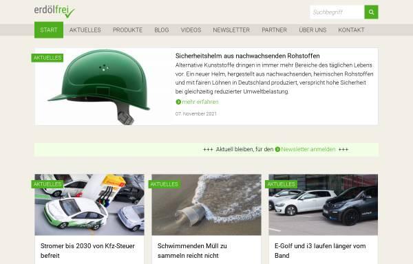 Vorschau von www.erdoelfrei.de, Alternativen zum Erdöl als Rohstoff und Energieträger