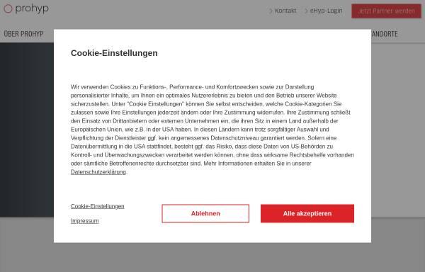Vorschau von www.prohyp.de, Prohyp GmbH