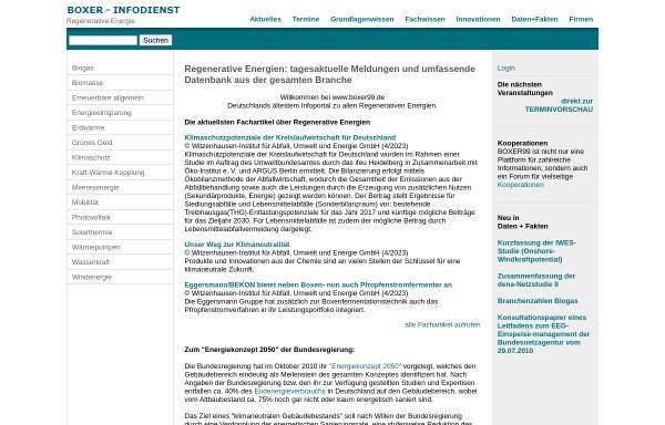 Vorschau von www.boxer99.de, Boxer-Infodienst: Regenerative Energie