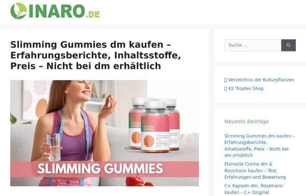 Vorschau von www.inaro.de, Informationssystem Nachwachsende Rohstoffe (INARO)