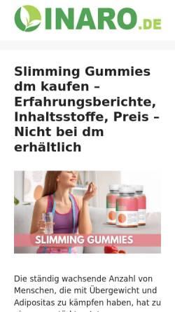 Vorschau der mobilen Webseite www.inaro.de, Informationssystem Nachwachsende Rohstoffe (INARO)