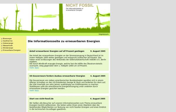 Vorschau von www.nicht-fossil.de, Nicht Fossil