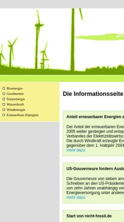 Vorschau der mobilen Webseite www.nicht-fossil.de, Nicht Fossil