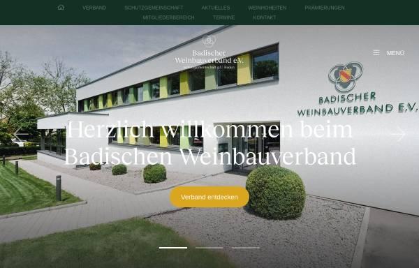 Vorschau von www.badischer-weinbauverband.de, Badischer Weinbauverband e.V.