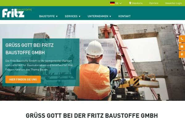 Vorschau von www.fritz-baustoffe.de, Fritz Baustoffe