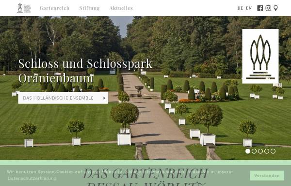 Vorschau von www.gartenreich.com, Kulturstiftung DessauWörlitz
