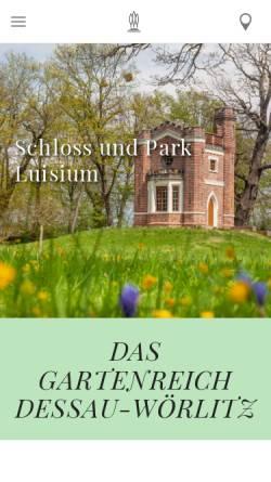 Vorschau der mobilen Webseite www.gartenreich.com, Kulturstiftung DessauWörlitz