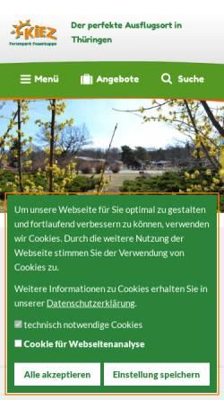 Vorschau der mobilen Webseite ferienpark-feuerkuppe.de, Ferienpark Feuerkuppe