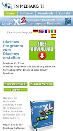 Vorschau der mobilen Webseite www.mediakg.de, Diashow Pro