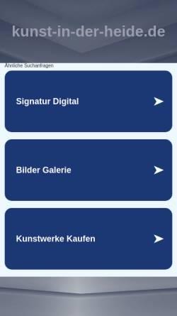 Vorschau der mobilen Webseite www.kunst-in-der-heide.de, Kunst in der Heide, Tanja Kamermann