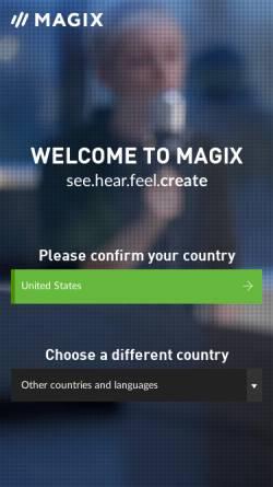 Vorschau der mobilen Webseite www.magix.net, Magix AG