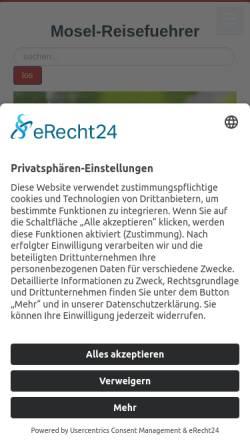 Vorschau der mobilen Webseite www.mosel-reisefuehrer.de, Mosel-Reisefuehrer