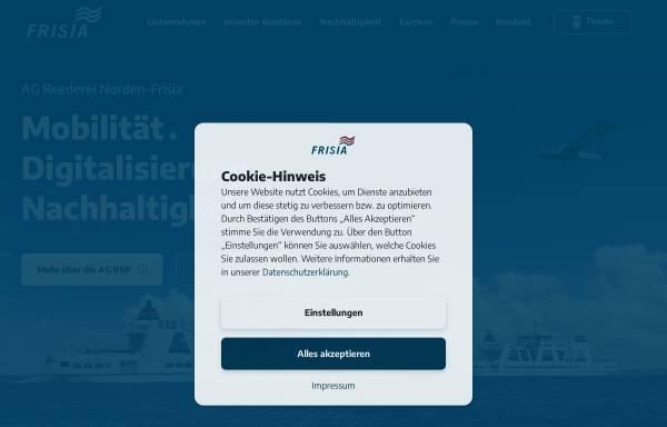 Vorschau von www.reederei-frisia.de, Aktiengesellschaft Reederei Norden-Frisia