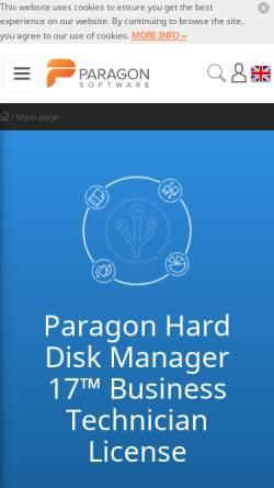 Vorschau der mobilen Webseite www.cdrom-emulator.de, Paragon Technologie GmbH