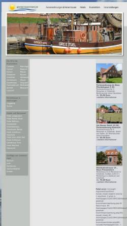 Vorschau der mobilen Webseite www.kueste-und-inseln.de, Nordsee Infos