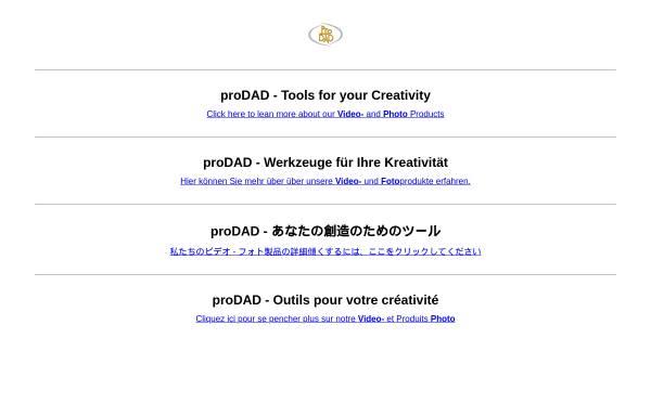 Vorschau von www.prodad.de, proDAD GmbH