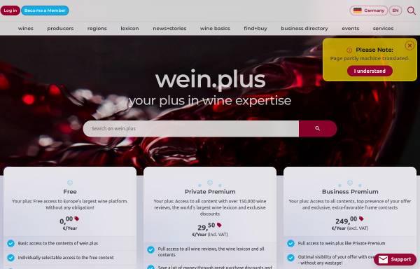 Vorschau von www.wein-plus.de, Wein-Plus