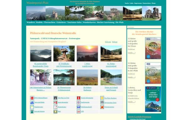 Vorschau von www.wanderportal-pfalz.de, Wandern in der Pfalz