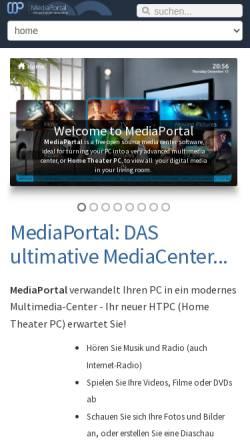 Vorschau der mobilen Webseite www.team-mediaportal.de, Team MediaPortal