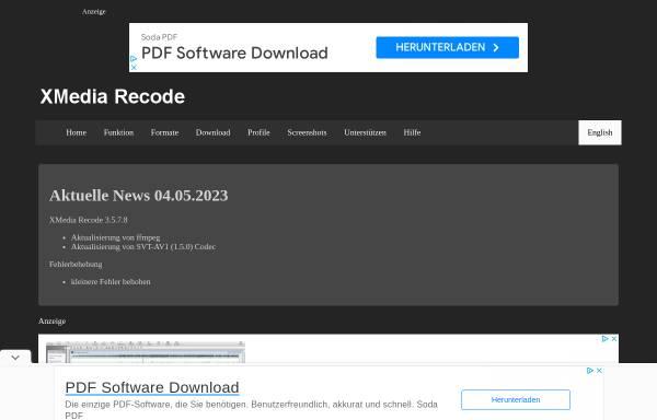 Vorschau von www.xmedia-recode.de, XMedia Recode