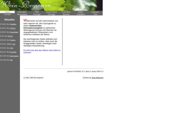 Vorschau von www.wein-regionen.de, Wein-Regionen
