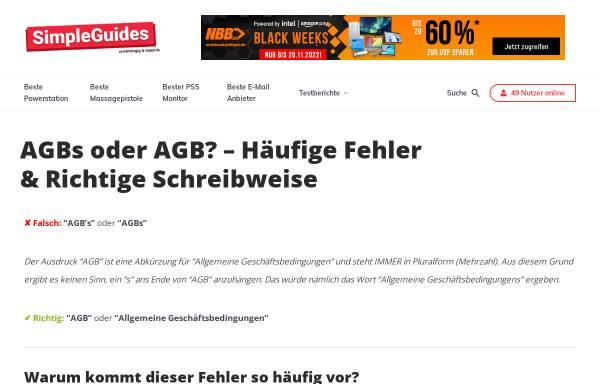 Vorschau von www.agb-s.de, agb-s.de