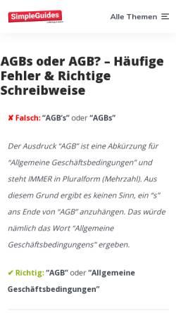 Vorschau der mobilen Webseite www.agb-s.de, agb-s.de