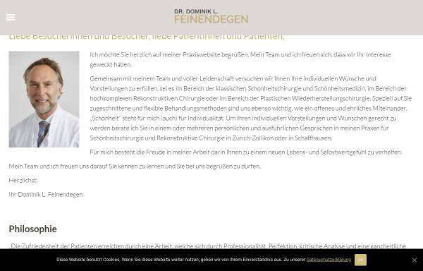 Vorschau von www.feinendegen.ch, Dr. Dominik L. Feinendegen