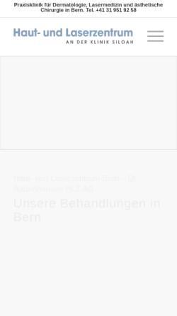 Vorschau der mobilen Webseite www.laserzentrum-bern.ch, Laserzentrum Bern