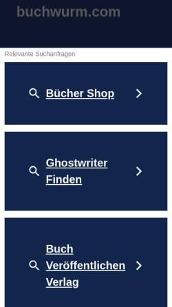 Vorschau der mobilen Webseite www.buchwurm.com, Der Buchwurm