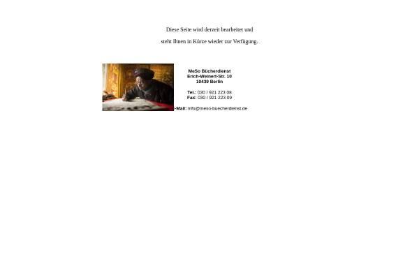 Vorschau von www.meso-buecherdienst.de, Meso Bücherdienst