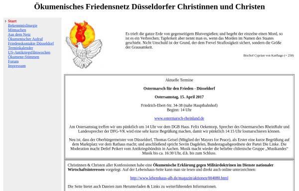 Vorschau von www.ofdc.de, Ökumenisches Friedensnetz Düsseldorfer Christinnen und Christen