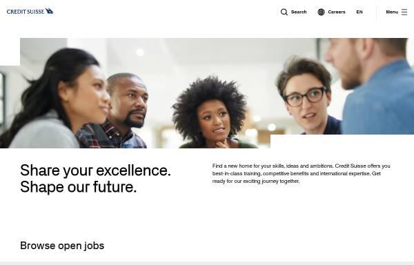 Vorschau von www.credit-suisse.com, Credit Suisse Gruppe