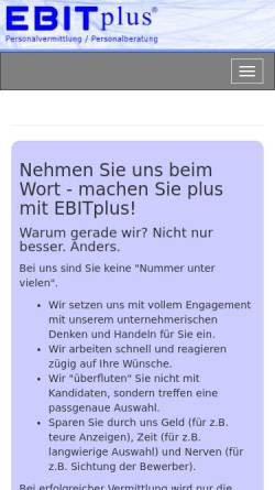Vorschau der mobilen Webseite www.ebitplus.de, EBITplus GmbH