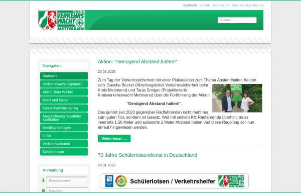 Vorschau von www.verkehrswacht-mettmann.de, Kreisverkehrswacht Mettmann e.V.