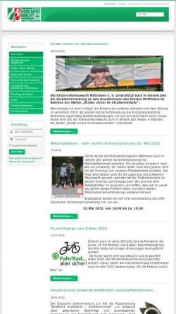 Vorschau der mobilen Webseite www.verkehrswacht-mettmann.de, Kreisverkehrswacht Mettmann e.V.